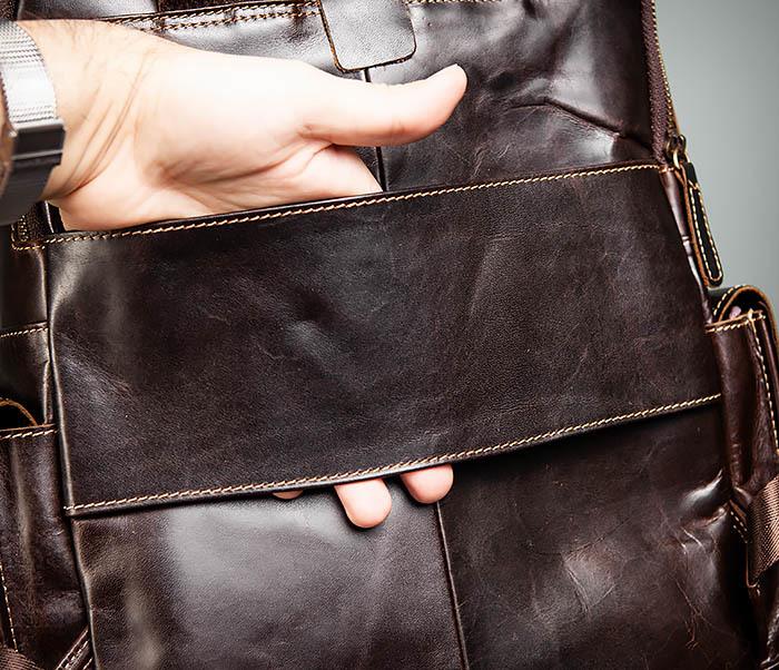 BAG460-2 Мужской городской рюкзак из натуральной кожи фото 09