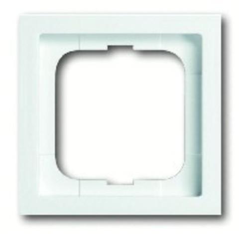 Рамка на 1 пост. Цвет Белый глянец. ABB(АББ). Future Linear(Фьючер Линеар). 1754-0-4498
