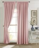 Длинные шторы. Луи (светло-розовый). Шторы из стриженного бархата.