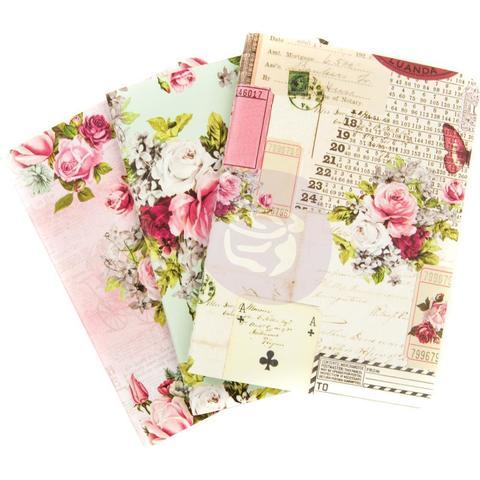 Набор внутренних блоков  (9х12,5 см) Prima Traveler's Journal Passport Refill Notebook -Misty Rose -4 шт