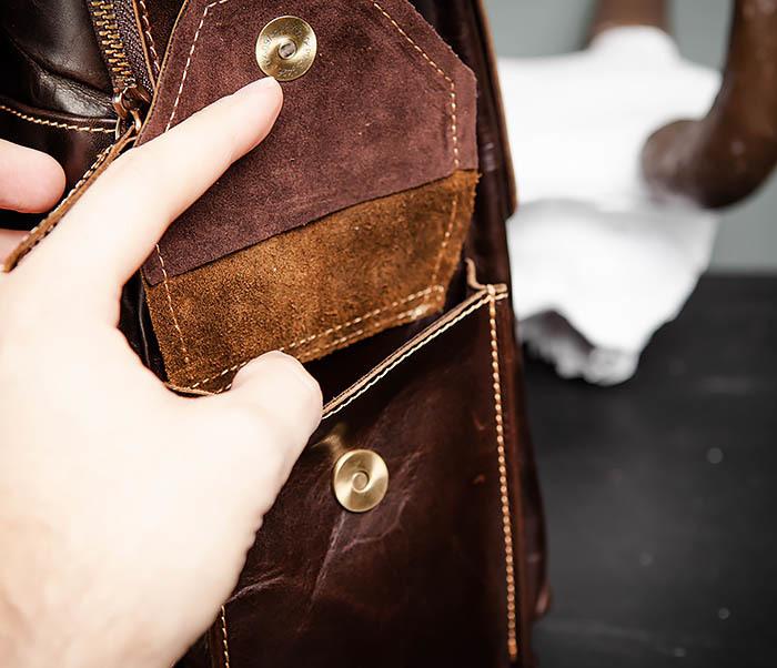 BAG460-2 Мужской городской рюкзак из натуральной кожи фото 10