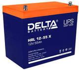 Аккумулятор Delta HRL 12-55 Х ( 12V 55  Ah / 12В 55  Ач ) - фотография