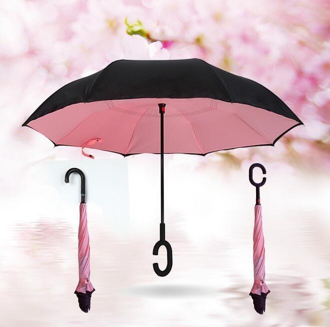 Розовый цвет зонта