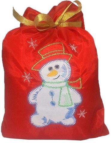 Мешок новогодний для подарков Снеговик