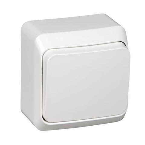 Выключатель одноклавишный (схема 1) 10 АХ 250 В. Цвет Белый. Schneider Electric(Шнайдер электрик). Этюд. BA10-001B