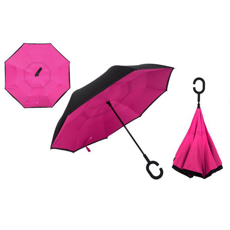 Тёмно-розовый цвет зонта