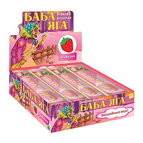 БАБА ЯГА клубника, жев. конфета 48*12 11г.