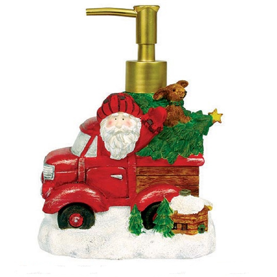 Дозаторы для мыла Дозатор для жидкого мыла Blonder Home Truckin With Santa dozator-dlya-zhidkogo-myla-blonder-home-truckin-with-santa-ssha.jpg