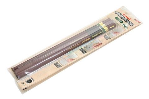Графитовые карандаши Uni Penmanship (треугольные, 6B, 3 шт.)