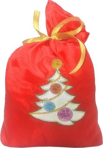 Мешок новогодний для подарков Елочка