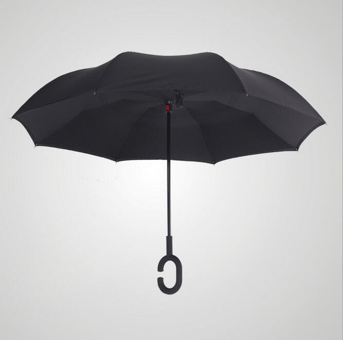 Чёрный цвет зонта
