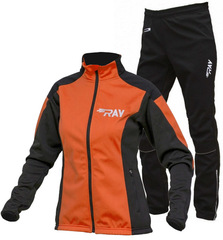 Утеплённый лыжный костюм RAY Pro Race WS Orange-Black 2018 женский