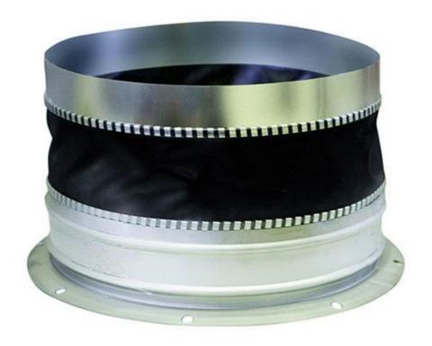 Гибкая вставка D 200 (с фланцевым кольцом и муфтовым соединителем)