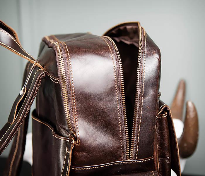 BAG460-2 Мужской городской рюкзак из натуральной кожи фото 14