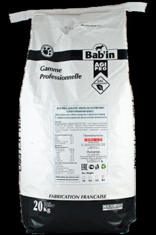 Bab'in Agi Pro Adulte Medium Entretien сухой корм для взрослых собак средних и крупных пород 20 кг