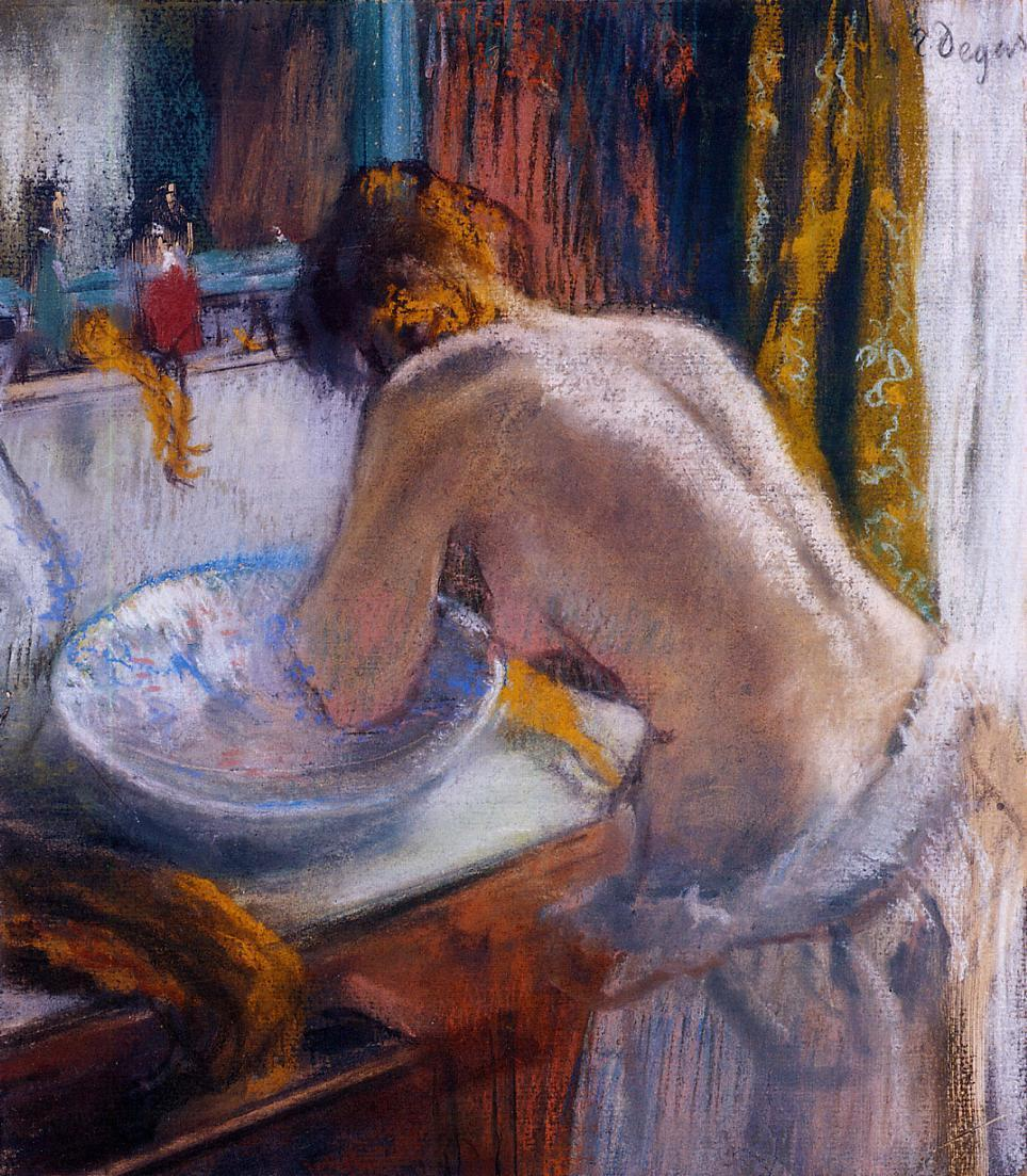 Эдгар Дега. 1884-1886. Утренний туалет. Пастель. Частное собрание.