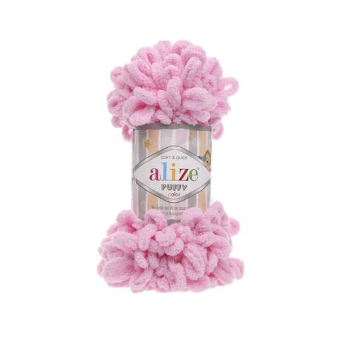 Купить Пряжа Alize Puffy Код цвета 185 Розовый | Интернет-магазин пряжи «Пряха»