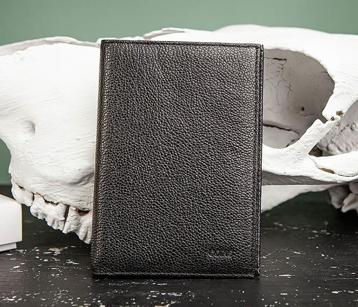BC217-1 Кожаная обложка для авто документов и карт «Santini», черная фото 02