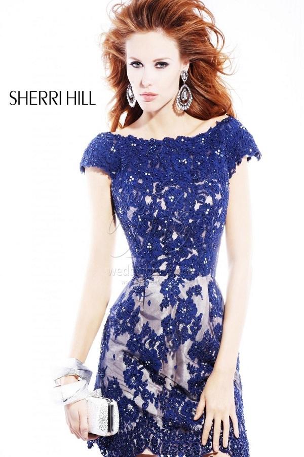 Sherri Hill 2941 Платье с изумительным декором бусинами и вышивкой.