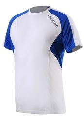 Беговая футболка Noname Juno 2000789 унисекс бело-синяя