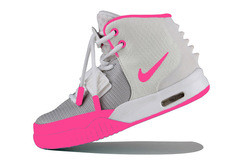 Кроссовки женские Nike Air Yeezy 2 White Pink
