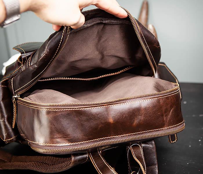 BAG460-2 Мужской городской рюкзак из натуральной кожи фото 15