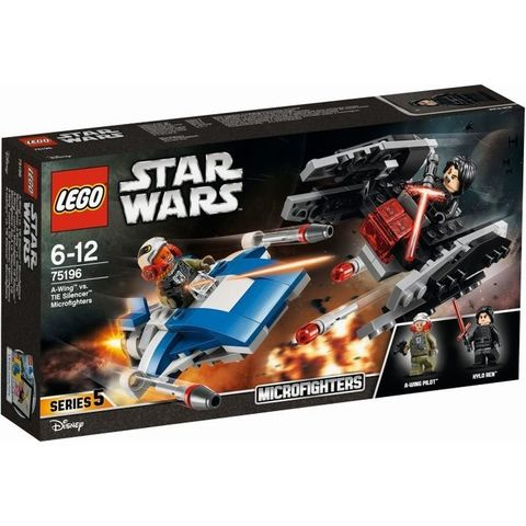 LEGO  A-wing vs TIE Silencer Microfighters