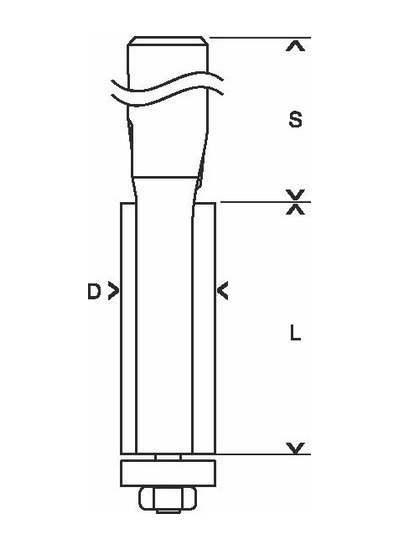 Фрезы для выборки заподлицо BOSCH D9,5 L25,4