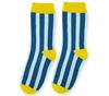 Носки детские голубые с рисунком Вертикальные полоски