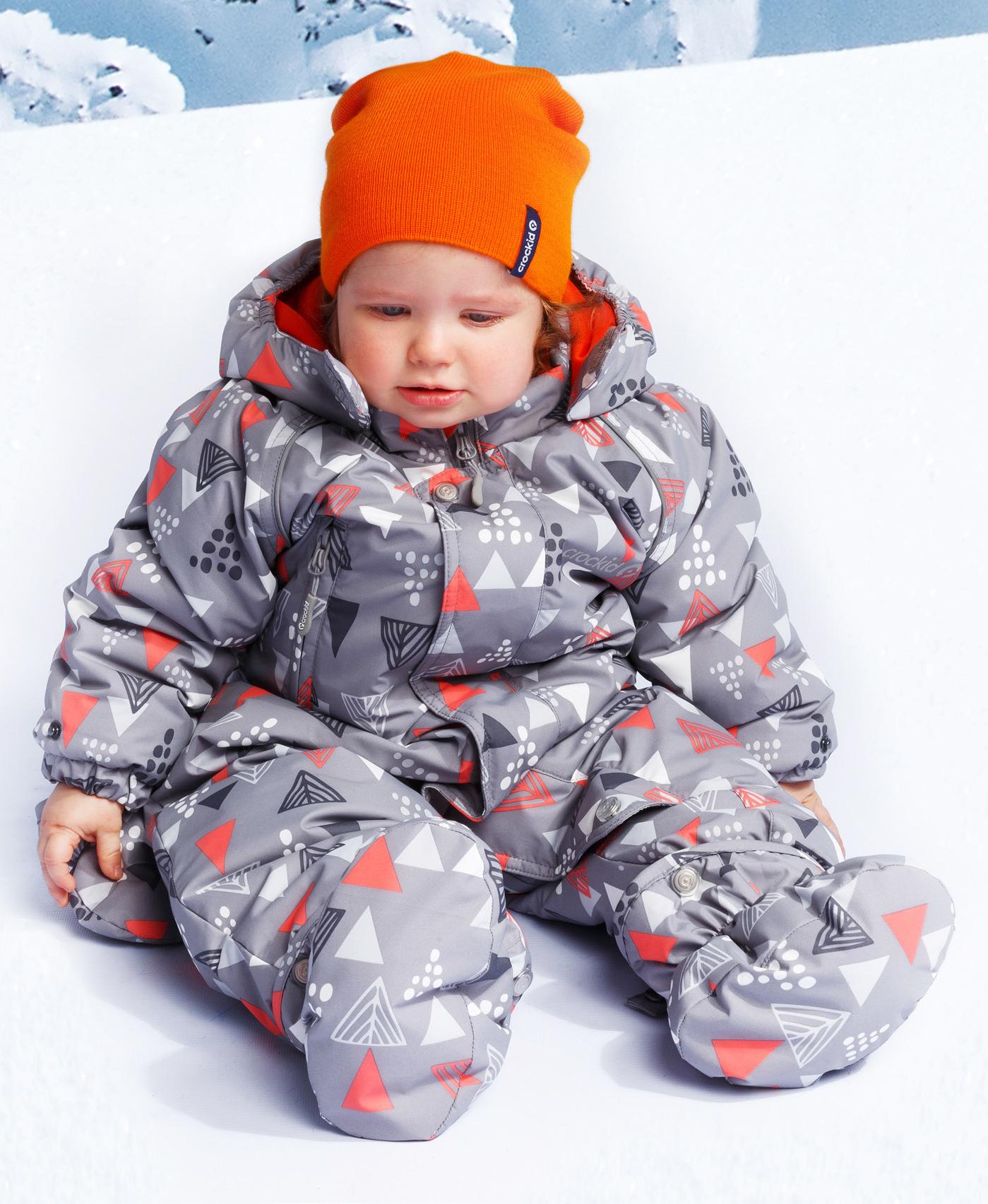 41b9b18e90c602b Детский зимний комбинезон Crockid серый с елками - купить в интернет ...