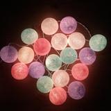 Гирлянда из тайских фонариков мятно-розово-фиолетовая
