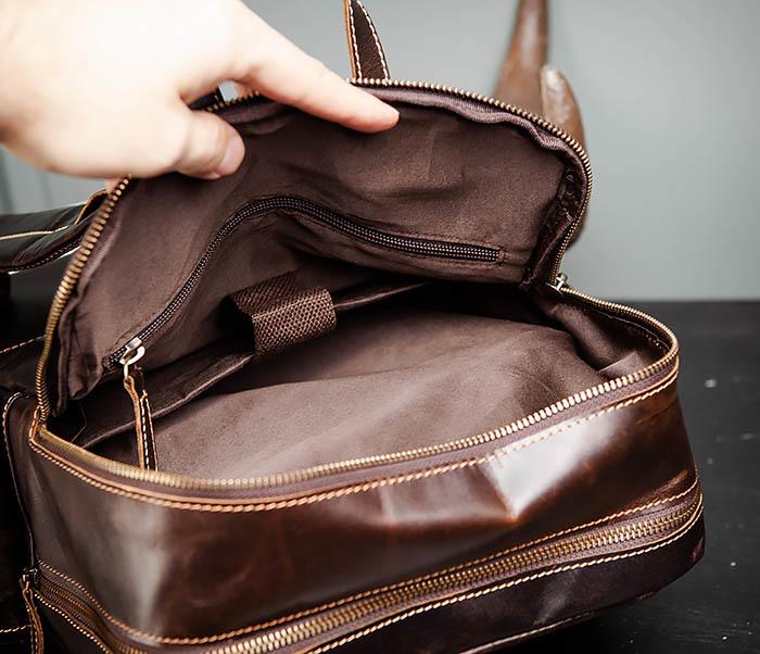 BAG460-2 Мужской городской рюкзак из натуральной кожи фото 17