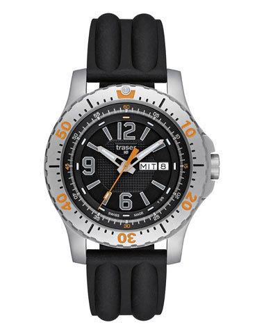 Купить Наручные часы Traser Extreme Sport 100196 (черный силиконовый) по доступной цене