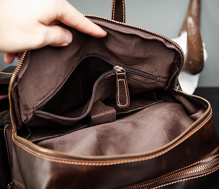 BAG460-2 Мужской городской рюкзак из натуральной кожи фото 18