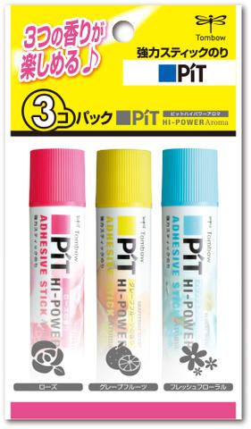 Клеящие карандаши Tombow PIT Hi-Power Aroma (набор 3 шт.)