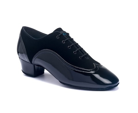 Туфли International La, Jones - Black nubuck/black patent