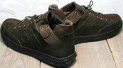 Мужские демисезонные туфли кроссовки Luciano Bellini 71748 Brown