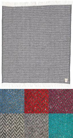 Плед Manifattura Lombarda Regale J05 серый/синий