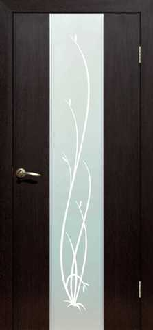 Дверь Сибирь Профиль Рассвет, цвет венге, остекленная