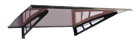 Погонаж - Козырёк (1)  Альфа ТП 1000*1400 для входной двери (1000х1400), цвет коричневый
