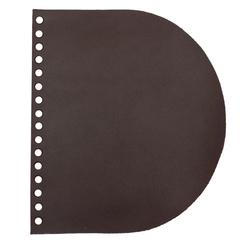 Клапан для сумочки кожаный темно-коричневый 1,6 мм