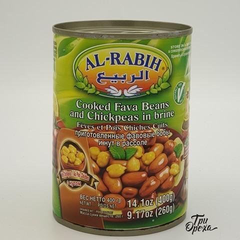 Бобы Фава и Нут тушеные Al-Rabih, 400 гр