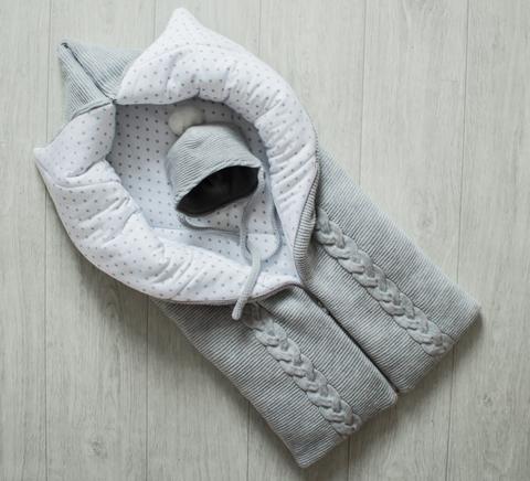 Демисезонный комплект одеяло - трансформер + шапочка
