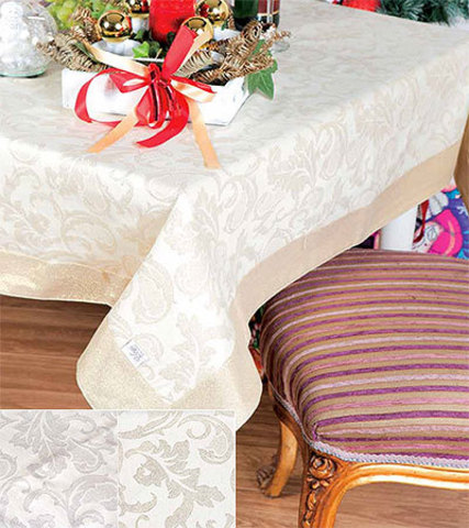 Скатерть 140x180 Vingi Ricami Marlen 04 золотая