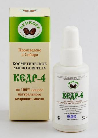Косметическое масло лечебное КЕДР-4