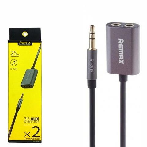 Кабель Atcom аудио-двойник Remax RL-S20 Share black