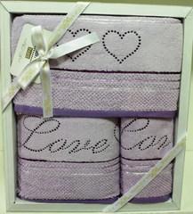 Набор полотенец  LOVE ЛАВ 3пр 30х50 50х100 и 70х140 Maison Dor Турция