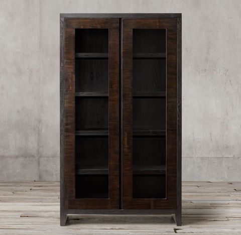 Wyeth Split Bamboo Glass Cabinet