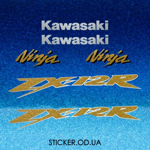Набор виниловых наклеек на мотоцикл KAWASAKI ZX-12R 2004