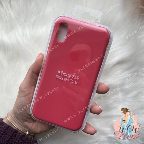 Чехол iPhone X/XS Silicone Case /hibiscus/ гибискус original quality